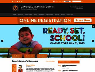 canutillo-isd.org screenshot