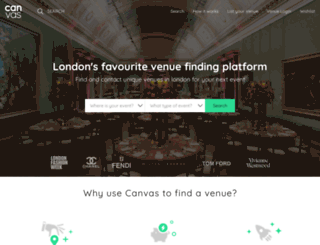 canvas-events.co.uk screenshot