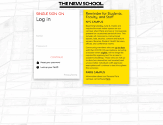 canvas.newschool.edu screenshot
