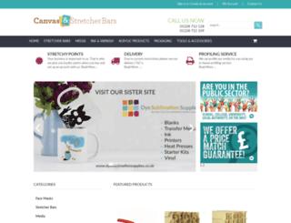 canvasandstretcherbars.co.uk screenshot