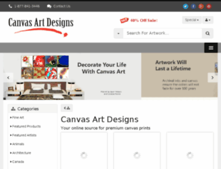 canvasartdesigns.com screenshot
