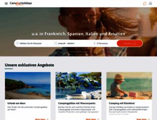 canvasholidays.de screenshot