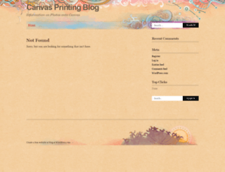 canvasprints.wordpress.com screenshot