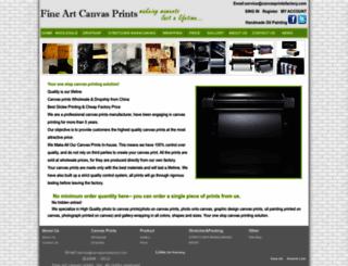 canvasprintsfactory.com screenshot