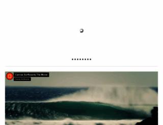 canvassurfboards.com screenshot