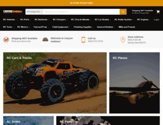 canyonhobbies.com screenshot