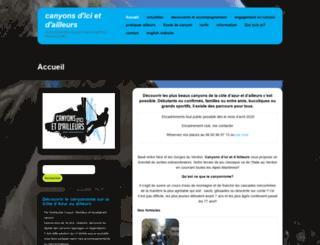 canyonisme.net screenshot