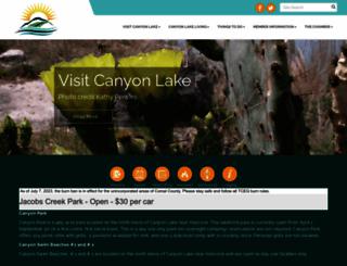 canyonlakechamber.com screenshot