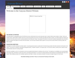 canyons.ocbsa.org screenshot