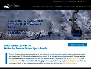 canyonsports.com screenshot
