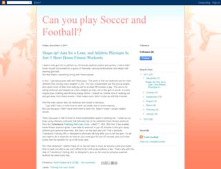 canyouplayfootballsoccer.blogspot.com screenshot