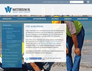 caowaterbouw.nl screenshot