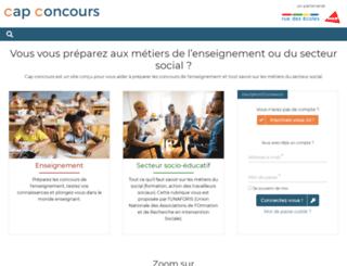 cap-concours.fr screenshot