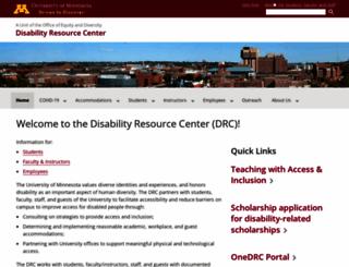 cap.umn.edu screenshot