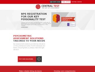 capcampus.centraltest.com screenshot