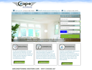 capeairconditioning.com screenshot
