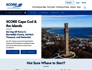 capecod.score.org screenshot