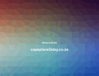 capeplace2stay.co.za screenshot