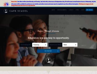 capeschool.com screenshot