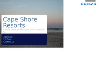 capeshoreresorts.com screenshot