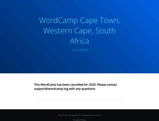 capetown.wordcamp.org screenshot