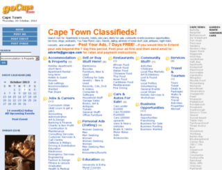 capetownclassifieds.gocape.com screenshot