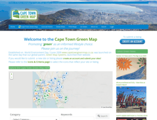 capetowngreenmap.co.za screenshot