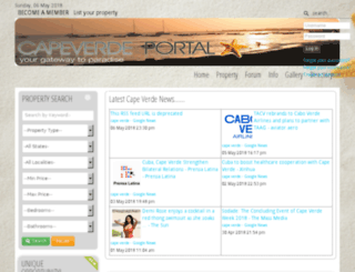 capeverdeportal.com screenshot