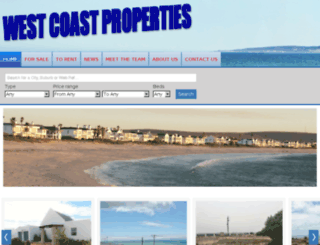 capewestcoastproperties.co.za screenshot