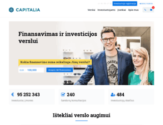 capitalia.lt screenshot