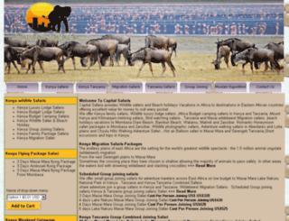 capitalsafaris.com screenshot