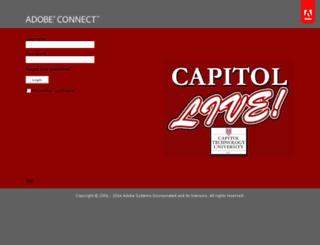 capitol.adobeconnect.com screenshot