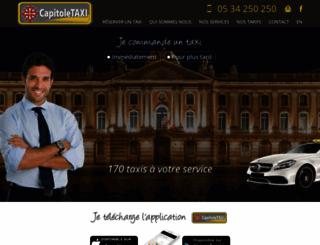 capitole-taxi.com screenshot