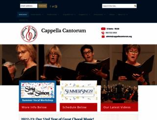 cappellacantorum.org screenshot
