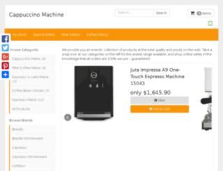 cappuccinomachine.org screenshot