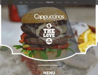 cappuccinos.co.za screenshot