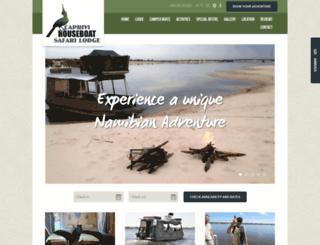 caprivihouseboatsafaris.com screenshot