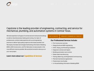 capstonemechanical.com screenshot