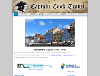 captaincooktravel.com screenshot