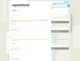 captainhuntz.wordpress.com screenshot