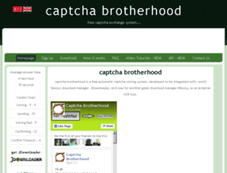 captchabrotherhood.com screenshot