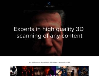 captureddimensions.com screenshot