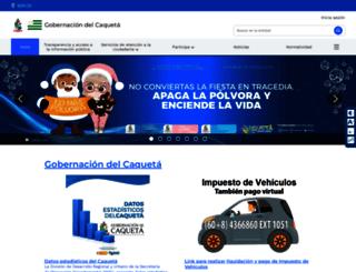caqueta.gov.co screenshot