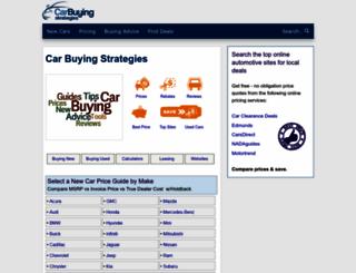 car-buying-strategies.com screenshot