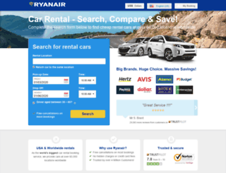car-hire.ryanair.com screenshot