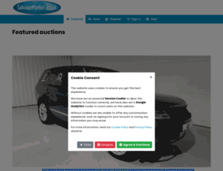 car-transplants.salvagemarket.co.uk screenshot