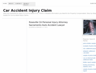 caraccidentinjuryclaims.org screenshot