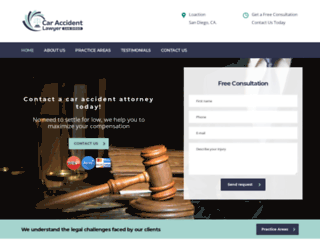 caraccidentlawyersandiego.co screenshot