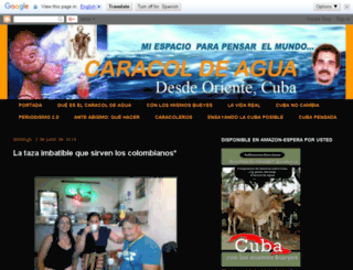 caracoldeagua-arnoldo.blogspot.com screenshot