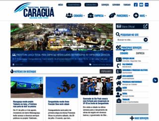 caraguatatuba.sp.gov.br screenshot